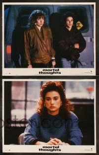 8y425 MORTAL THOUGHTS 8 LCs '91 Demi Moore, Glenne Headly, Bruce Willis!