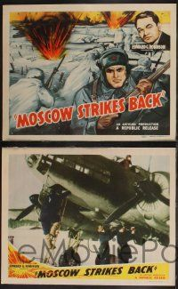 8y426 MOSCOW STRIKES BACK 8 LCs '42 WWII documentary made when Russia was our ally,Edward G Robinson
