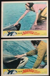 8y758 NAMU THE KILLER WHALE 6 LCs '66 Lee Meriwether, Robert Lansing, great killer whale images!