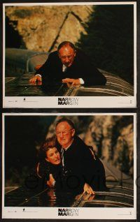 8y443 NARROW MARGIN 8 LCs '90 Gene Hackman, Anne Archer, the edge of suspense!