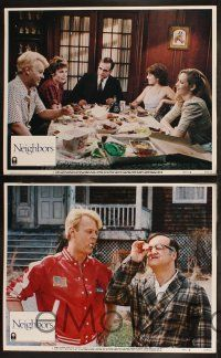 8y445 NEIGHBORS 8 LCs '81 wacky images of John Belushi, Dan Aykroyd, Cathy Moriarty!