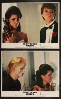 8y452 NIGHT OF THE CREEPS 8 LCs '86 Jason Lively, Jill Whitlow, wacky zombie images!