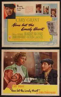 8y460 NONE BUT THE LONELY HEART 8 LCs '44 images of Cary Grant & Oscar-winner Ethel Barrymore!