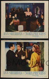 8y871 NORA PRENTISS 4 LCs '47 cool images of sexy nightclub singer Ann Sheridan & Kent Smith!