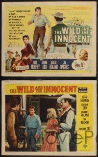 8y671 WILD & THE INNOCENT 8 LCs '59 Audie Murphy wants to kill a man, drink & kiss fancy women!