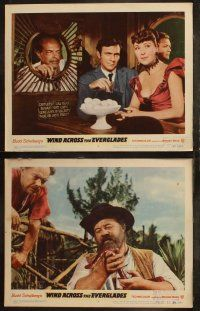 8y673 WIND ACROSS THE EVERGLADES 8 LCs '58 Burl Ives, written by Budd Schulberg, Nicholas Ray!