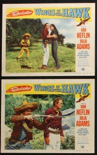 8y770 WINGS OF THE HAWK 6 LCs '53 Van Heflin, Julia Adams, directed by Budd Boetticher, 3-D!