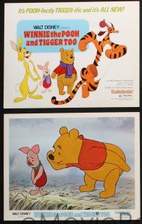 8y771 WINNIE THE POOH & TIGGER TOO 6 LCs '74 Disney, A.A. Milne, Rabbit, Piglet, Christopher Robin!