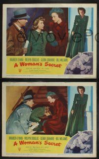 8y952 WOMAN'S SECRET 3 LCs '49 Maureen O'Hara had to stop her at any cost, Nicholas Ray noir!