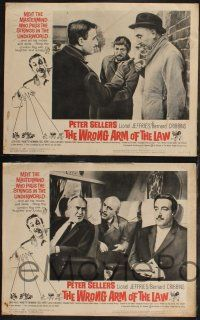 8y679 WRONG ARM OF THE LAW 8 LCs '63 wacky puppet master Peter Sellers, Lionel Jeffries!