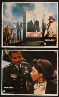 8y680 WRONG IS RIGHT 8 LCs '82 TV reporter Sean Connery, Robert Conrad, Katharine Ross!