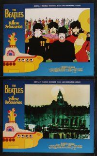 8y683 YELLOW SUBMARINE 8 LCs R99 wonderful psychedelic art of Beatles John, Paul, Ringo & George!