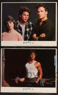 8y689 YOUNGBLOOD 8 LCs '86 ice hockey players Rob Lowe & Patrick Swayze, Cynthia Gibb