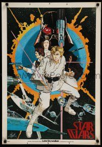 9h002 STAR WARS special 20x29 '76 1st edition, poster 1, art by Howard Chaykin!