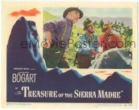 9j201 TREASURE OF THE SIERRA MADRE LC #5 '48 best c/u of Humphrey Bogart with Tim Holt & Huston!