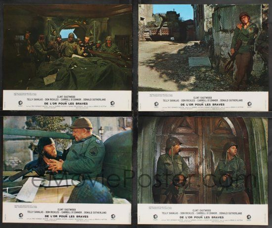 eMoviePoster com: 9r327 KELLY'S HEROES set of 16 French LCs