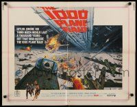 9w004 1000 PLANE RAID 1/2sh '69 Christopher George, cool huge WWII airplane battle art!