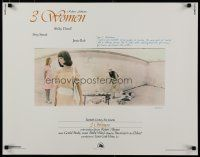 9w006 3 WOMEN 1/2sh '77 directed by Robert Altman, Shelley Duvall, Sissy Spacek, Janice Rule