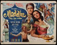 9w009 ALADDIN & HIS LAMP 1/2sh '52 art of sexy Patricia Medina in Arabian adventure!