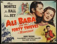 9w010 ALI BABA & THE FORTY THIEVES 1/2sh '43 Maria Montez, Jon Hall & Turhan Bey!