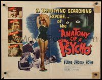 9w012 ANATOMY OF A PSYCHO 1/2sh '61 terrifying searching expose of a stalker after a beautiful babe!