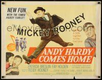 9w014 ANDY HARDY COMES HOME style A 1/2sh '58 Mickey Rooney & his son Teddy together for first time!