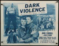 9w015 ANGEL IN EXILE 1/2sh R54 John Carroll, Adele Mara, bullets couldn't stop him, Dark Violence!