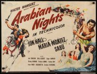 9w018 ARABIAN NIGHTS 1/2sh '42 Sabu, Jon Hall, Maria Montez, desert adventure!