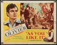 9w021 AS YOU LIKE IT 1/2sh R49 Sir Laurence Olivier in William Shakespeare's romantic comedy!