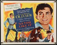 9w022 AS YOU LIKE IT reviews 1/2sh R49 Sir Laurence Olivier in Shakespeare's romantic comedy!