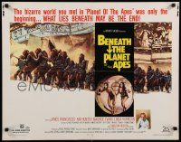 9w027 BENEATH THE PLANET OF THE APES 1/2sh '70 sci-fi sequel, what lies beneath may be the end!
