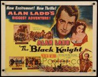 9w028 BLACK KNIGHT style A 1/2sh '54 Alan Ladd's biggest adventure, sexy Patricia Medina!