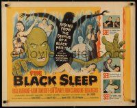 9w030 BLACK SLEEP 1/2sh '56 Lon Chaney Jr., Bela Lugosi, Tor Johnson, terror-drug wakes the dead!