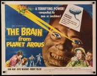 9w034 BRAIN FROM PLANET AROUS 1/2sh '57 he has terrifying power unequalled by men or machines!