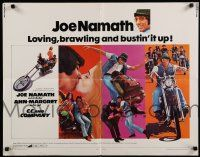 9w042 C.C. & COMPANY 1/2sh '70 great images of Joe Namath on motorcycle, biker gang!