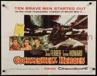 9w051 COCKLESHELL HEROES style A 1/2sh '56 Jose Ferrer, Trevor Howard, art of soldiers in canoe!