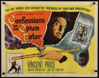 9w053 CONFESSIONS OF AN OPIUM EATER 1/2sh '62 Vincent Price, drugs beyond your own imagination!