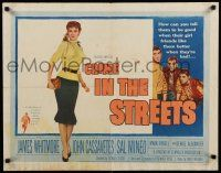 9w055 CRIME IN THE STREETS style A 1/2sh '56 Don Siegel directed, Sal Mineo & 1st John Cassavetes!