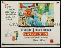9w056 CRY FOR HAPPY 1/2sh '60 Glenn Ford & Donald O'Connor take over a geisha house & girls too!