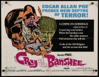 9w057 CRY OF THE BANSHEE 1/2sh '70 Edgar Allan Poe probes new depths of terror, cool artwork!