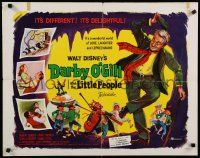 9w062 DARBY O'GILL & THE LITTLE PEOPLE 1/2sh '59 Disney, Sean Connery, it's leprechaun magic!