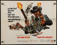 9w063 DAY OF ANGER 1/2sh '69 I giorni dell'ira, Lee Van Cleef, Gemme, spaghetti western!