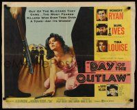 9w064 DAY OF THE OUTLAW style A 1/2sh '59 Robert Ryan, Burl Ives, sexy Tina Louise!