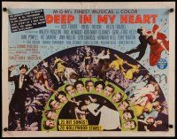 9w067 DEEP IN MY HEART style A 1/2sh '54 MGM's finest all-star musical, headshots of 13 top stars!