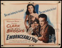 9w078 EMBRACEABLE YOU 1/2sh '48 sexy Geraldine Brooks was looking for trouble & Dane Clark!