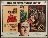 9w080 ENEMY GENERAL 1/2sh '60 Nazis executing innocent civilians, Van Johnson fights back!