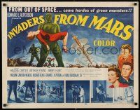 9w001 INVADERS FROM MARS 1/2sh '53 classic, hordes of green monsters from outer space!