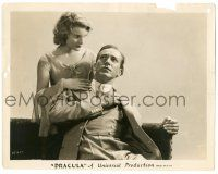 9y263 DRACULA 8x10.25 still '31 spooky Helen Chandler with David Manners, Tod Browning