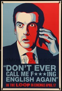 1d395 IN THE LOOP teaser English 1sh '09 Armando Iannucci, Peter Capaldi isn't English!