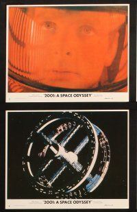 1e064 2001: A SPACE ODYSSEY 8 8x10 mini LCs '68 Stanley Kubrick sci-fi classic, Dullea & Lockwood!